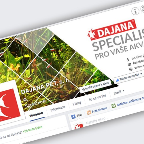 DAJANA PET – podpora Facebook | marketing